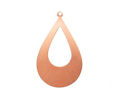Copper Open Teardrop Blank 31x52mm
