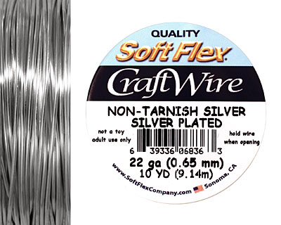 Soft Flex Non-Tarnish Silver Craft Wire 22 gauge, 10 yards