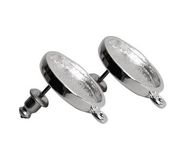 Nunn Design Sterling Silver (plated) Mini Circle Earring 18x15mm