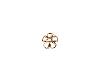 Nunn Design Antique Gold (plated) 6mm Open Daisy Bead Cap 3x7mm