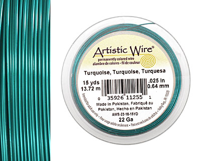 Artistic Wire Matte Turquoise 22 gauge, 15 yards