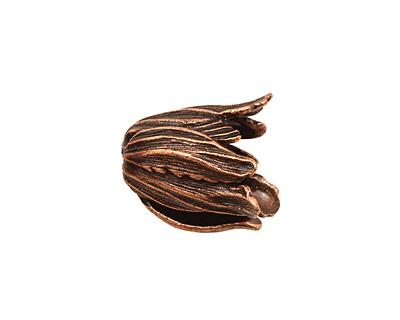 Ezel Findings Antique Copper Tulip Bead Cap 18x16mm