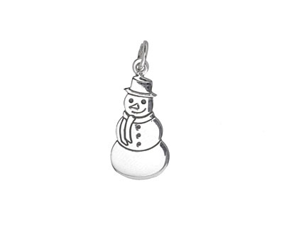 Nina Designs Sterling Silver Snowman Charm 10x23mm