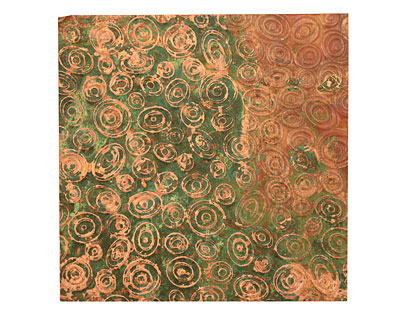 Lillypilly Verde Groovy Circles Embossed Patina Copper Sheet 3