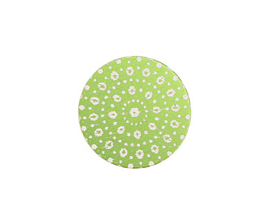 Lillypilly Lime Green Crochet Anodized Aluminum Disc 19mm, 24 gauge