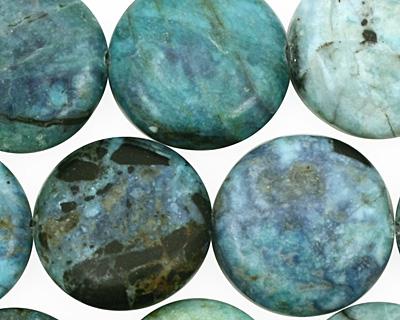 Blue Opal Puff Coin 18mm