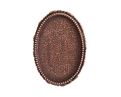 Nunn Design Antique Copper (plated) Oval Ornate Grande Brooch 32x45mm