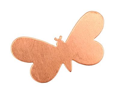 Copper Butterfly Blank 32x19mm