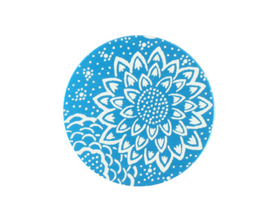 Lillypilly Turquoise Dahlia Anodized Aluminum Disc 25mm, 24 gauge