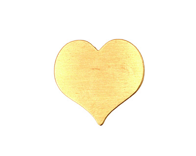 Brass Heart Blank 22mm