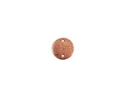 Nunn Design Antique Copper (plated) Flat Mini Circle Tag Link 13mm