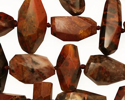 Pilbara Jasper Faceted Nugget 10-20x10-18mm