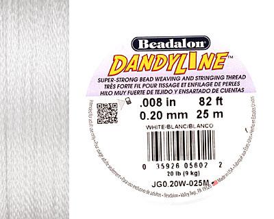 DandyLine White .2mm Thread, 25 meters