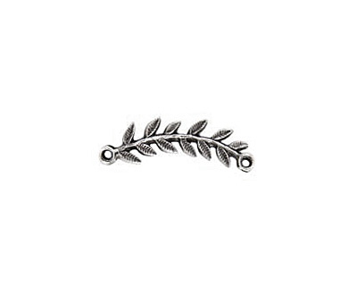Nunn Design Antique Silver (plated) Right Leaf Connector 33x8mm