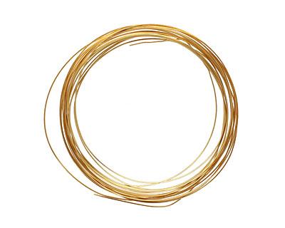Soft Flex Silver Plated Gold Half Round Craft Wire 18 gauge, 4 yards