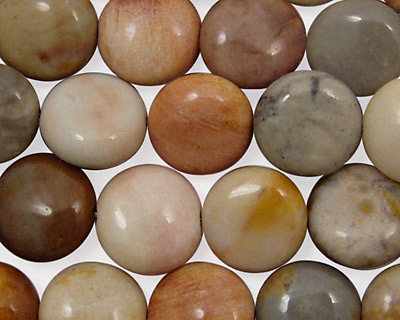 Hidden Valley Jasper Puff Coin 12mm
