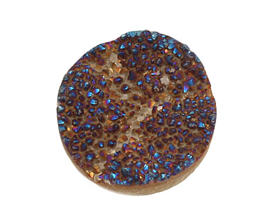 Druzy (metallic blue) Round Cabochon 30mm