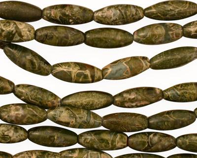 African Green Jasper Rice 12x5mm