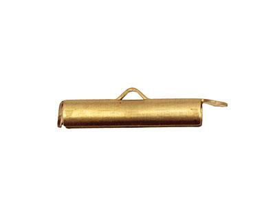 Brass Small Bead Pod Toggle Bar 28x4mm