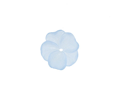 Matte Light Sapphire Lucite Buttercup Flower 4x14mm