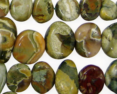 Rhyolite Flat Polished Pebble Graduated 7x9-10x15mm