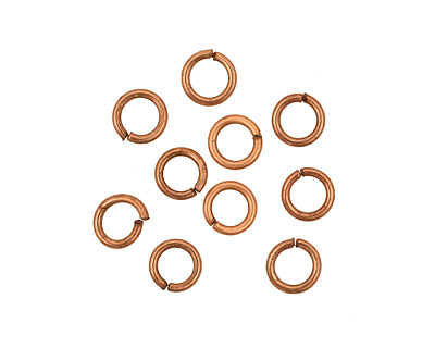 Antique Copper (plated) Round Jump Ring 6mm, 18 gauge