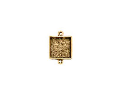 Nunn Design Antique Gold (plated) Mini Square Frame Link 21x15mm