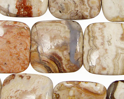 Mexican Crazy Lace Agate Puff Square 20mm