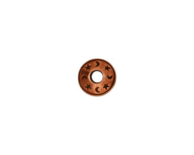 TierraCast Antique Copper (plated) Celestial Large Hole Bead 5x9mm