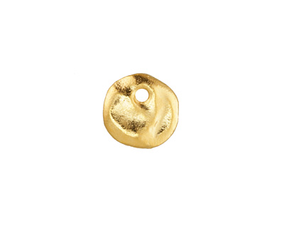 Greek Gold (plated) Small Hammered Coin Charm 12mm