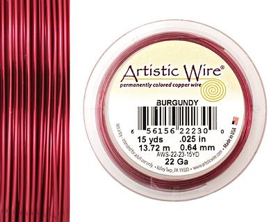 Artistic Wire Burgundy 22 gauge, 15 yards