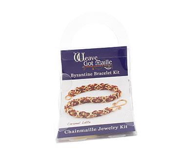 Weave Got Maille Caramel Latte Byzantine Bracelet Kit