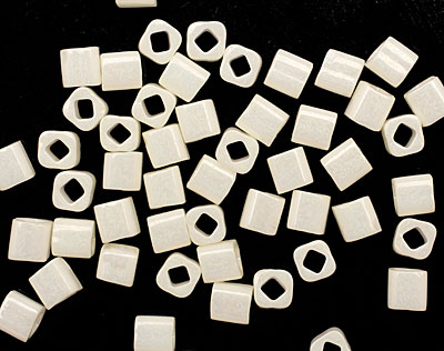 TOHO Opaque Lustered Navajo White Cube 4mm Seed Bead