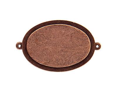 Nunn Design Antique Copper (plated) Raised Tag Grande Oval Link 51x32mm