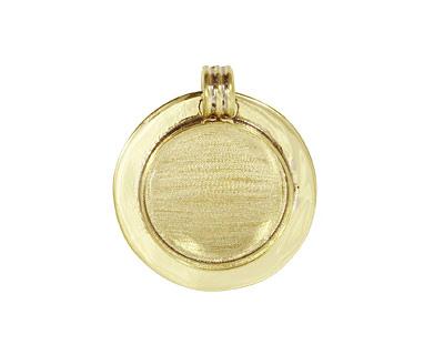 Brass Lipped Circle Bezel 23mm
