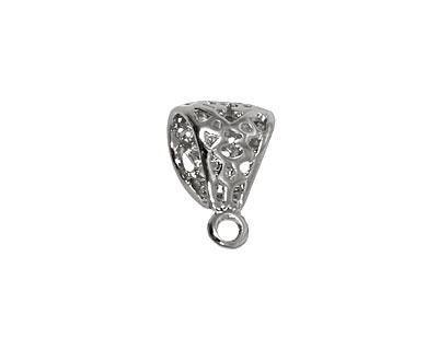 Silver (plated) Large Filigree Bail 12x18mm