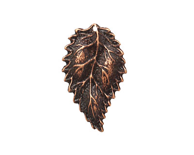 Ezel Findings Antique Copper (plated) Sesae Leaf 16x27mm