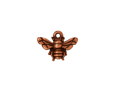 TierraCast Antique Copper (plated) Honey Bee Charm 15x12mm