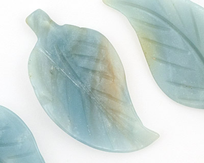 Amazonite Leaf Drop 18x33-42mm