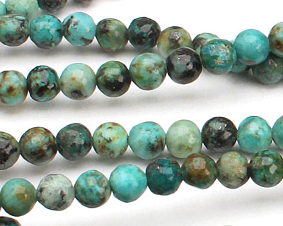 African Turquoise Round 4mm