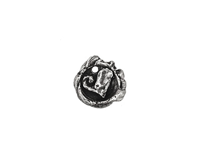 Rustic Charms Sterling Silver Swirled Rustic Heart Charm 12mm