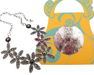 Glass Garden Violet Posey Necklace Kit