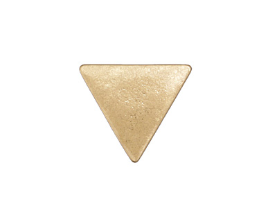 Zola Elements Matte Gold (plated) Triangle 7mm Flat Cord Slide 19x17mm