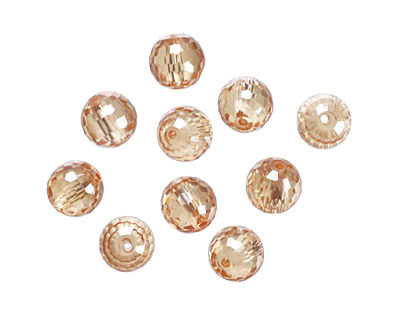 Champagne Faceted Round 8mm