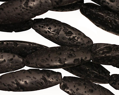 Lava Rock 3-Sided Rice 25x8-9mm