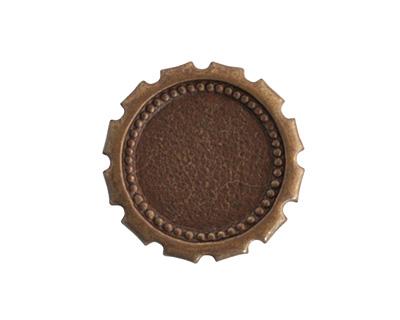 Vintaj Natural Brass Spoked Gear 23mm