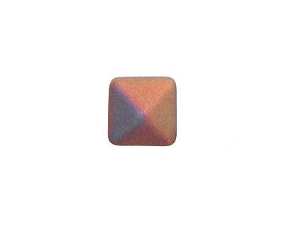 Czech Glass Crystal Vitex (matte) 2-Hole Pyramid Stud Bead 12mm