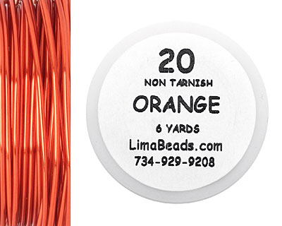 Parawire Orange 20 Gauge, 6 Yards
