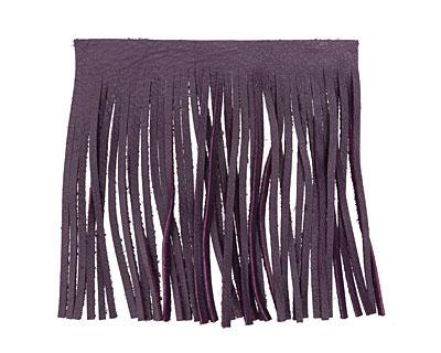 Purple Leather Tassel Fringe 5 inch square