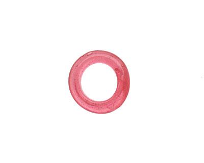 African Recycled Glass Raspberry Dogun Mini Ring 10-14mm